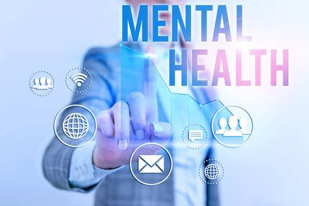 Text sign showing Mental Health. Business photo text demonstratings condition regard to their psychological well being 写真素材