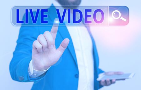 Handwriting text Live Video. Conceptual photo broadcast a live video or streamingfeed to an online audience