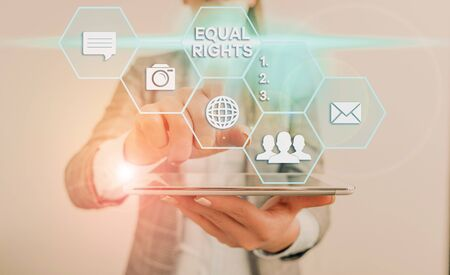 Handwriting text Equal Rights. Conceptual photo Equality before the law when all showing have the same rights Stock Photo