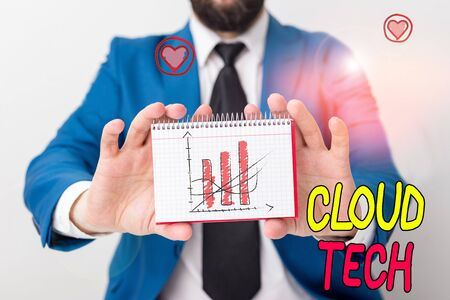 Handwriting text writing Cloud Tech. Conceptual photo storing and accessing data and programs over the Internet