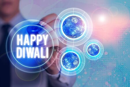 Word writing text Happy Diwali. Business photo showcasing festival of lights that celebrated by millions of Hindus