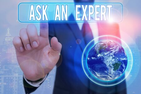 Writing note showing Ask An Expert. Business concept for confirmation that have read understand and agree with guidelines