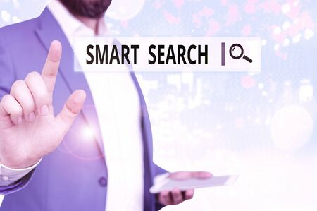 Word writing text Smart Search. Business photo showcasing tool used in recording software for searching based on motion Standard-Bild