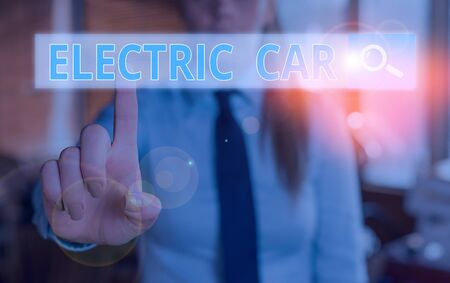 Conceptual hand writing showing Electric Car. Concept meaning an automobile that is propelled by one or more electric motors