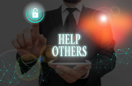 Word writing text Help Others. Business photo showcasing the action of helping someone to do something or assistance Zdjęcie Seryjne