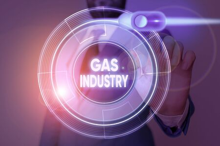Writing note showing Gas Industry. Business concept for global processes exploration and selling of petroleum products