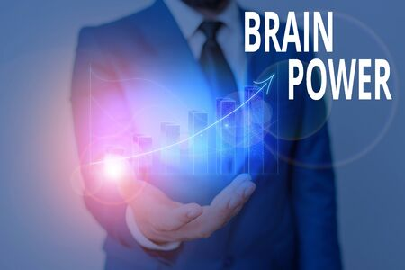 Conceptual hand writing showing Brain Power. Concept meaning Ability to comprehend To understand and profit from experience