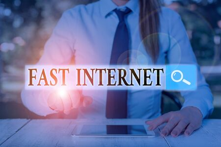 Word writing text Fast Internet. Business photo showcasing term used for Internet service that is faster than the average 版權商用圖片