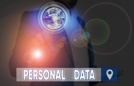 Word writing text Personal Data. Business photo showcasing Information that relates to an identifiable individual