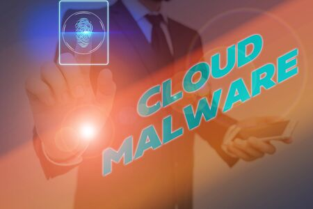 Word writing text Cloud Malware. Business photo showcasing malicious software file or program harmful to a computer 版權商用圖片