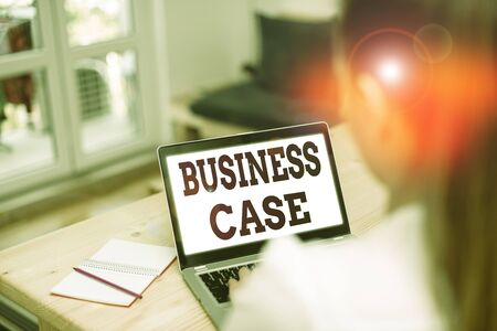 Word writing text Business Case. Business photo showcasing provides justification for undertaking a project or program 版權商用圖片