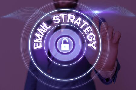 Text sign showing Email Strategy. Business photo showcasing marketing way to reach consumers via direct electronic mail Zdjęcie Seryjne
