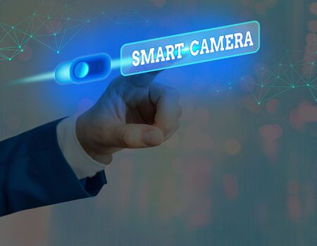Word writing text Smart Camera. Business photo showcasing individual image processing systems designed to automate
