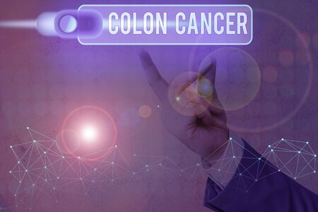 Conceptual Hand Writing Showing Colon Cancer Concept Meaning Stock Photo Picture And Royalty Free Image Image 142825961