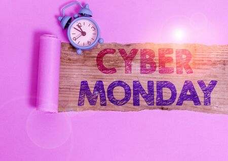 Writing note showing Cyber Monday. Business concept for Monday after the Thanksgiving holiday Online shopping day