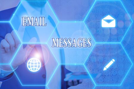 Conceptual hand writing showing Email Messages. Concept meaning a messages that has been sent using electronic mail
