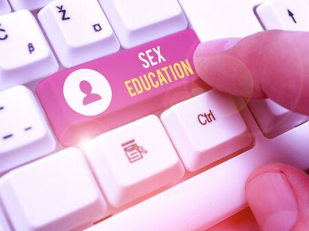 Word writing text Sex Education. Business photo showcasing Instruction of issues relating to human sexuality and anatomy Stock Photo