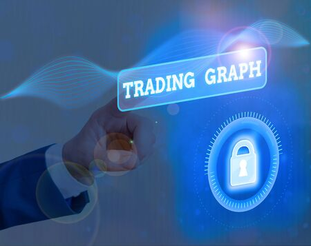 Text sign showing Trading Graph. Business photo text Represent the highs and lows of the trading period and price Stock fotó