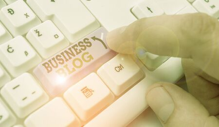Text sign showing Business Blog. Business photo text Devoted to write about subject matter related to the company