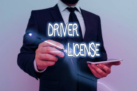 Conceptual hand writing showing Driver License. Concept meaning a document permitting a demonstrating to drive a motor vehicle