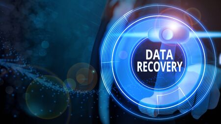 Word writing text Data Recovery. Business photo showcasing process of salvaging inaccessible lost or corrupted data Standard-Bild