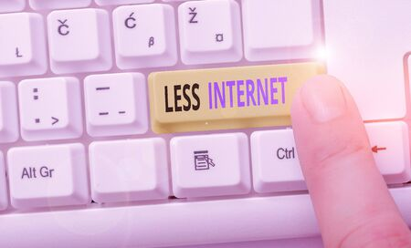 Word writing text Less Internet. Business photo showcasing Having no way of connecting or accessing the internet Stock fotó