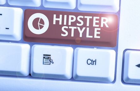 Word writing text Hipster Style. Business photo showcasing Fashion choices and music interests fall outside the majority Stock Photo