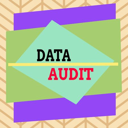 Handwriting text writing Data Audit. Conceptual photo auditing of data to assess its quality for a specific purpose Asymmetrical uneven shaped format pattern object outline multicolour design