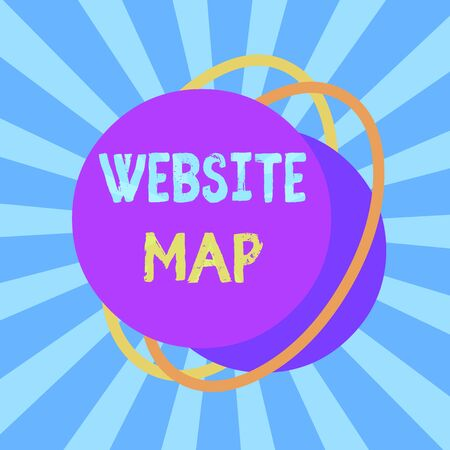 Text sign showing Website Map. Business photo text designed to help both users and search engines navigate the site Asymmetrical uneven shaped format pattern object outline multicolour design