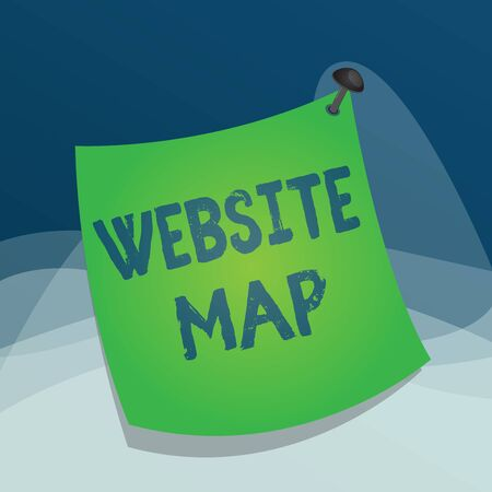 Writing note showing Website Map. Business concept for designed to help both users and search engines navigate the site Curved reminder paper memo nailed colorful surface pin frame