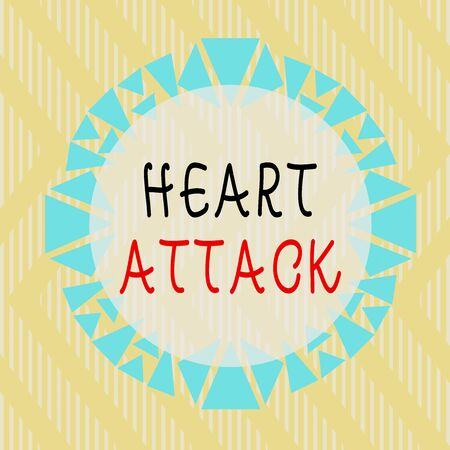 Conceptual hand writing showing Heart Attack. Concept meaning sudden occurrence of coronary thrombosis resulting in death Asymmetrical uneven shaped pattern object multicolour design