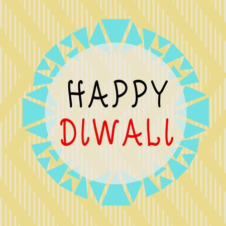 Conceptual hand writing showing Happy Diwali. Concept meaning festival of lights that celebrated by millions of Hindus Asymmetrical uneven shaped pattern object multicolour design