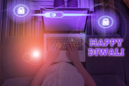 Conceptual hand writing showing Happy Diwali. Concept meaning festival of lights that celebrated by millions of Hindus