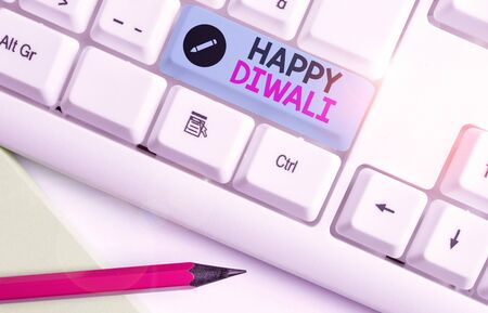 Handwriting text Happy Diwali. Conceptual photo festival of lights that celebrated by millions of Hindus Foto de archivo