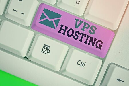 Word writing text Vps Hosting. Business photo showcasing mimics a dedicated server within a shared hosting environment