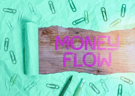 Handwriting text writing Money Flow. Conceptual photo the increase or decrease in the amount of money a business 版權商用圖片