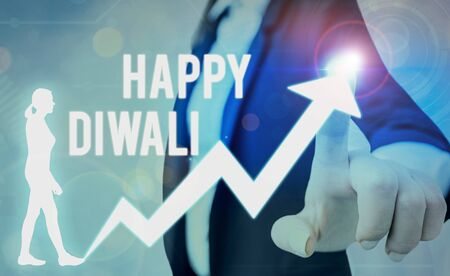 Handwriting text writing Happy Diwali. Conceptual photo festival of lights that celebrated by millions of Hindus
