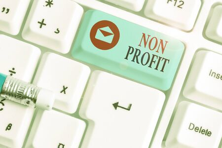 Text sign showing Non Profit. Business photo text not making or conducted primarily to make profit organization