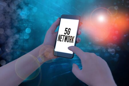 Handwriting text writing 5G Network. Conceptual photo greatly increase the speed and responsiveness of wireless network