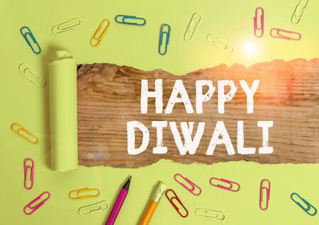Word writing text Happy Diwali. Business photo showcasing festival of lights that celebrated by millions of Hindus 写真素材
