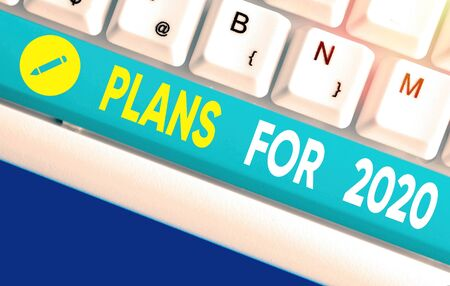 Word writing text Plans For 2020. Business photo showcasing an intention or decision about what one is going to do