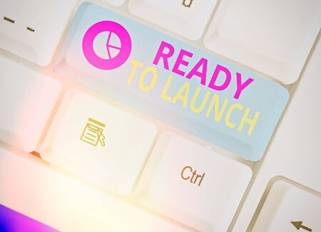 Writing note showing Ready To Launch. Business concept for an event to celebrate or introduce something new to market Zdjęcie Seryjne