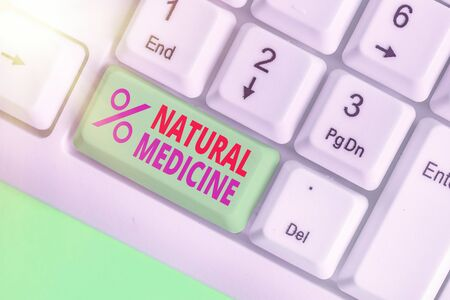 Handwriting text Natural Medicine. Conceptual photo any of various systems of healing or treating disease Stock Photo