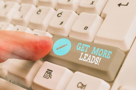 Conceptual hand writing showing Get More Leads. Concept meaning to have more customers and improve your target sales