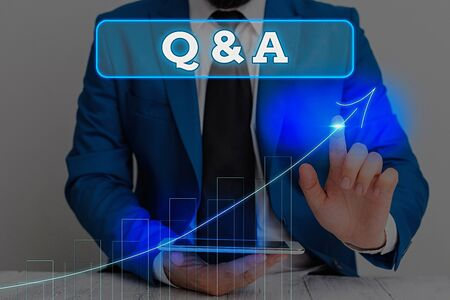 Writing note showing Q And A. Business concept for a period of time or an occasion when someone answers questions Reklamní fotografie