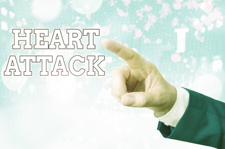 Handwriting text writing Heart Attack. Conceptual photo sudden occurrence of coronary thrombosis resulting in death