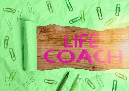 Handwriting text writing Life Coach. Conceptual photo someone who helps identify your goals and plan to achieve them