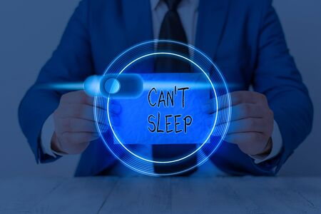 Writing note showing Cant Sleep. Business concept for trouble falling asleep or wake up frequently during the night