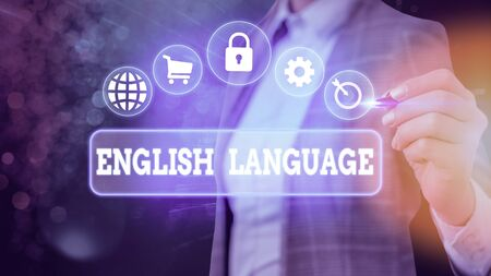 Word writing text English Language. Business photo showcasing third spoken native lang in world after Chinese and Spanish
