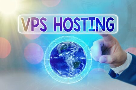 Writing note showing Vps Hosting. Business concept for mimics a dedicated server within a shared hosting environment